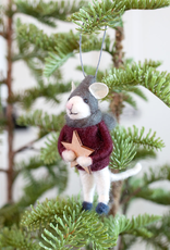 Felted Wool Mouse Ornament