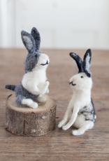 Felted Wool Rabbit Ornament