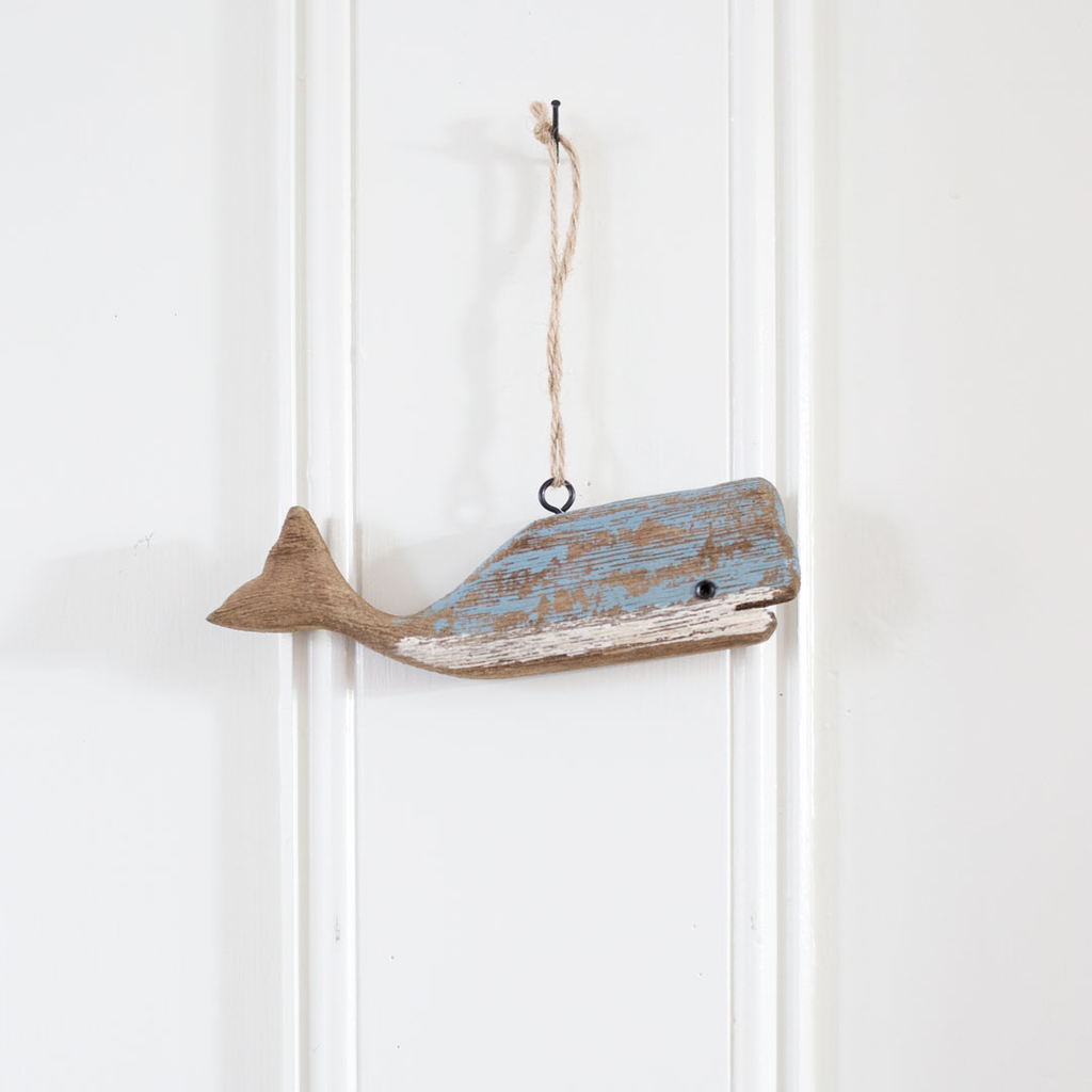 Driftwood Whale Ornament