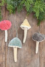 Beaded Velvet Mushroom Ornament