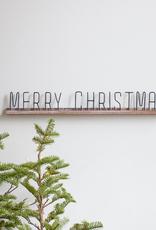 Wood + Metal Christmas Sign