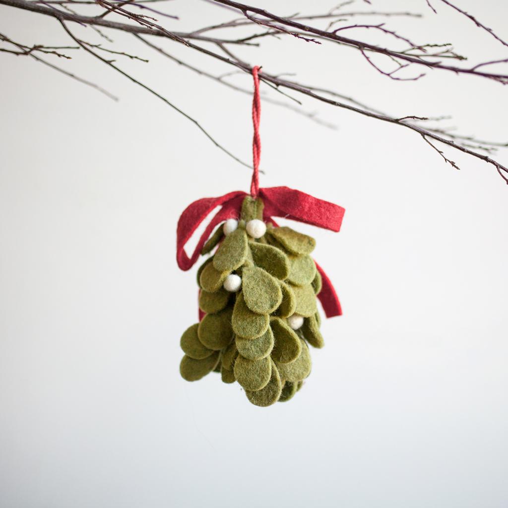 Wool Felt Mistletoe