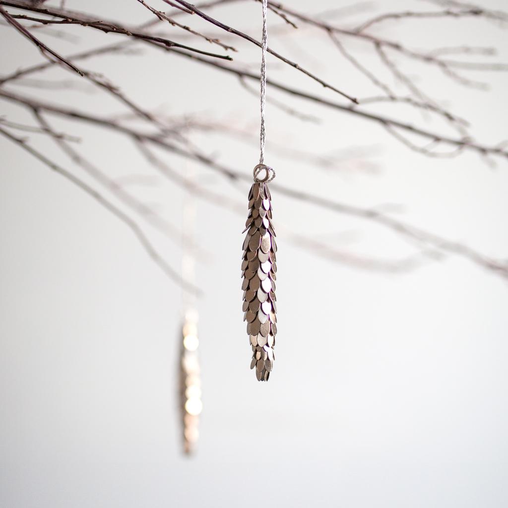 Metal Pinecone Ornament