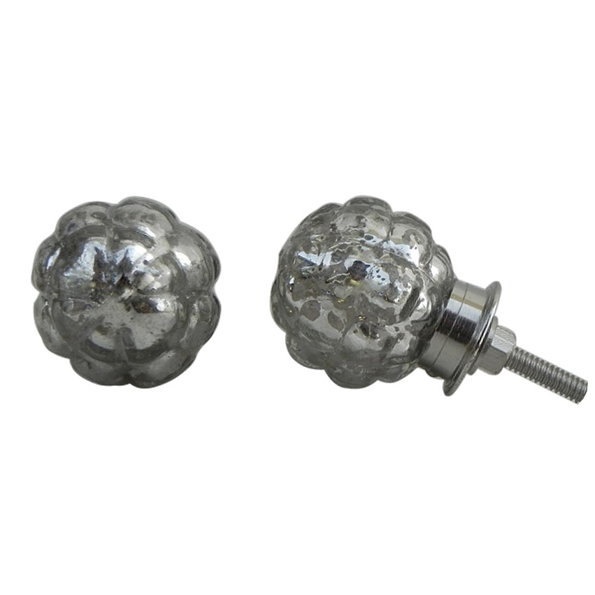 Round Mercury Glass Knob