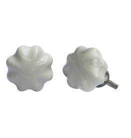 Small Melon Knob - Cream