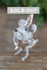 Felted Wool Party Mouse