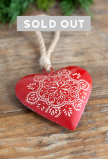 Metal Heart Ornament - Scandi