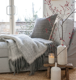Mohair Throw - Grey
