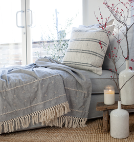 Cross Stitch Throw - Grey