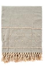 Cross Stitch Throw - Stone
