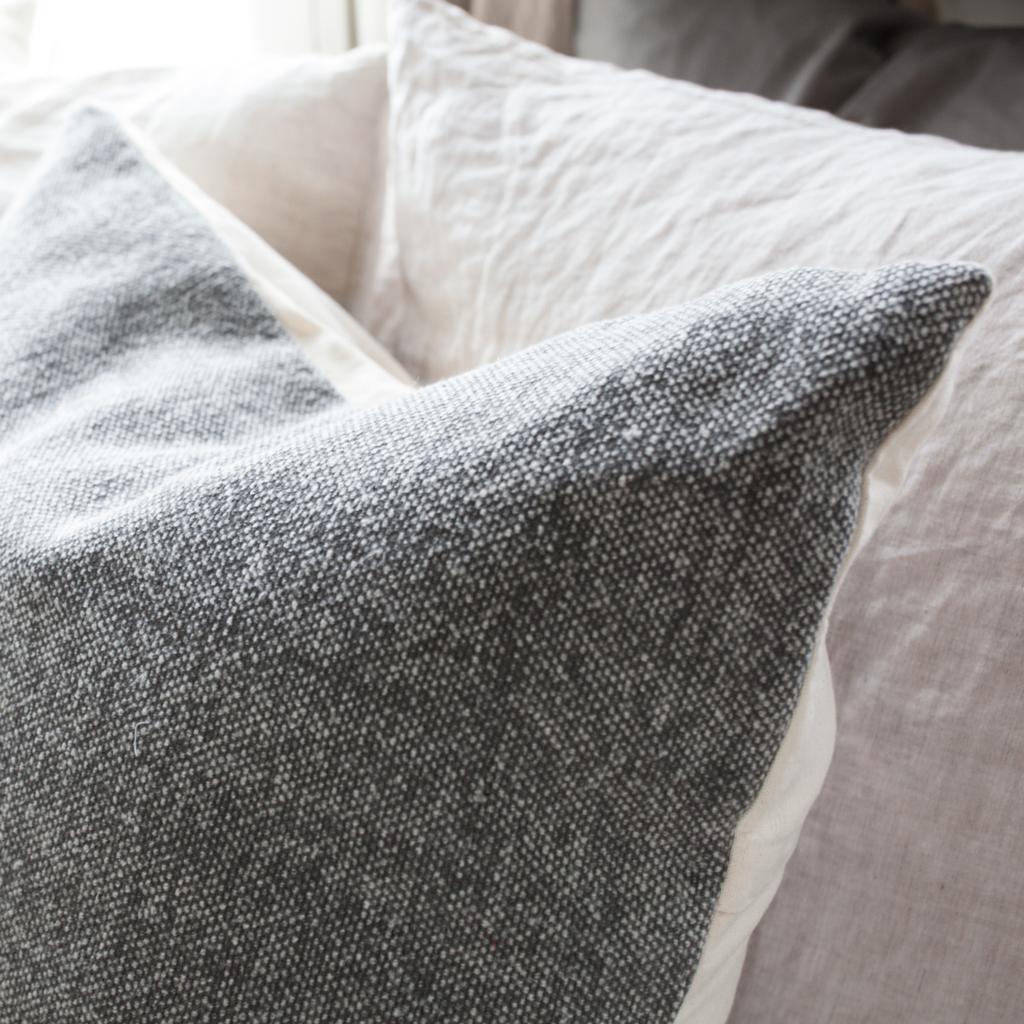 Cotton Weave Pillow - Dark Grey
