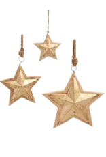 Gilded Craved Wood Star Ornament