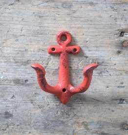 Cast Iron Anchor Hook – Red