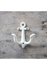 New Cast Iron Anchor Hook – White