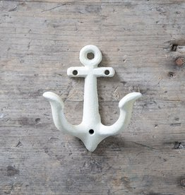 Cast Iron Anchor Hook – White