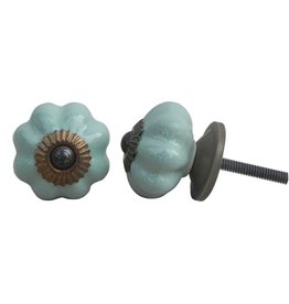 New Ceramic Melon Knob – Sage Green