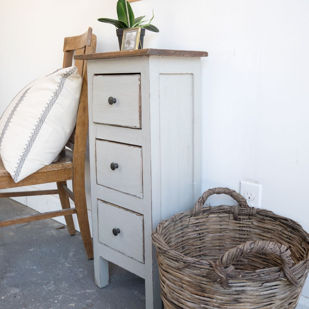 Found Painted Drawer Cabinet  / Side Table
