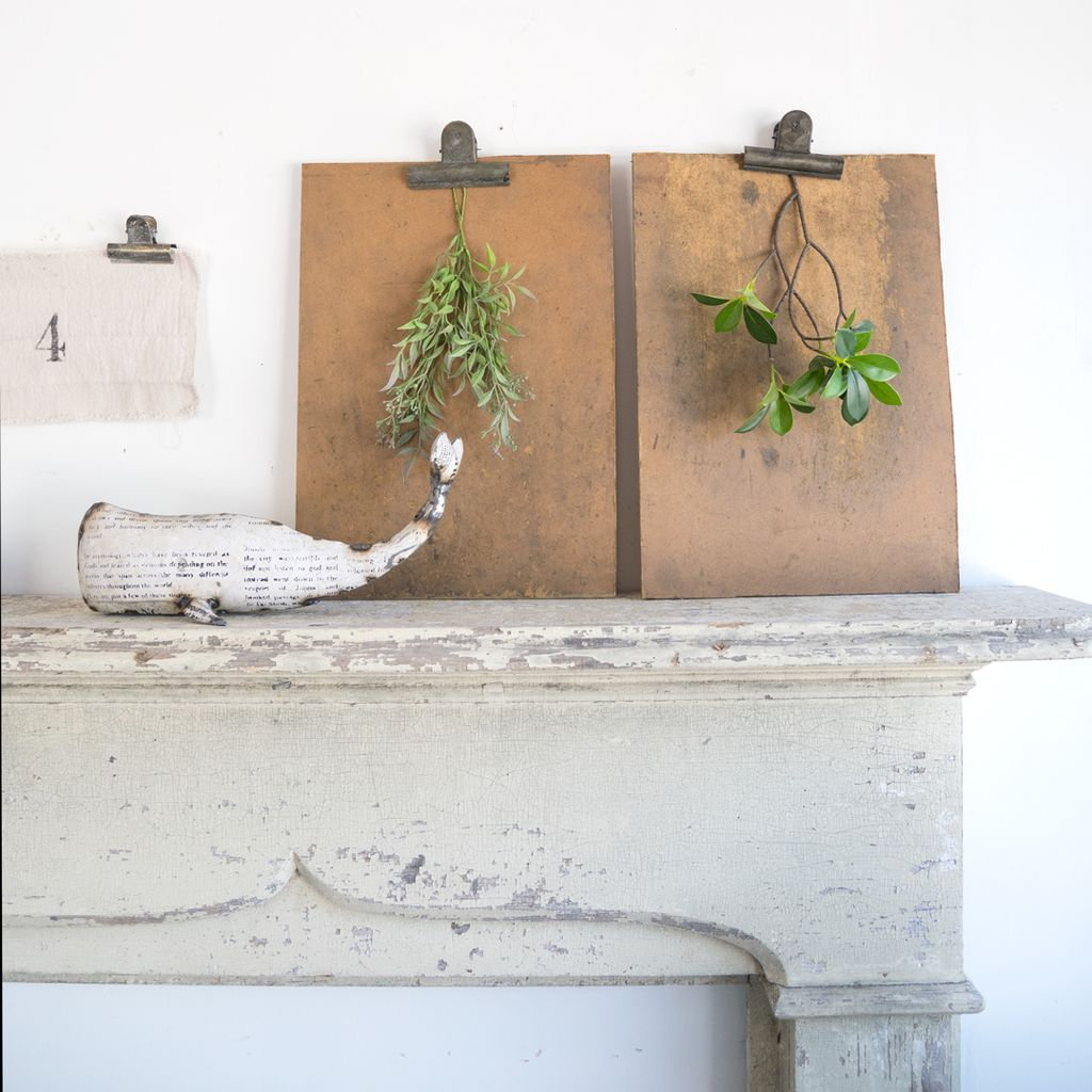 Antique Wooden Fireplace Mantle