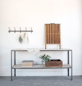 Steel and Wood Console Table / Shelf
