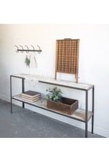 New Steel and Wood Console Table / Shelf