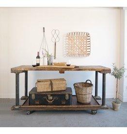 Found Industrial Wooden Cart