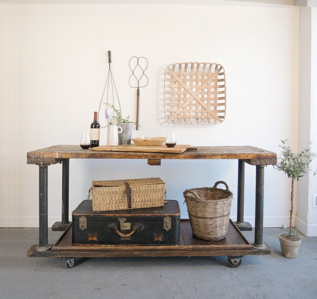 Industrial Wooden Cart