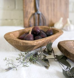Carved Wood Dough Bowl