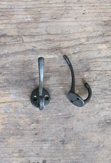 Cast Iron Mini Double Hook - Black