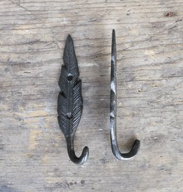 Cast Iron Feather Hook