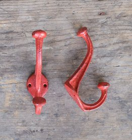 Cast Iron Nora Hook - Red