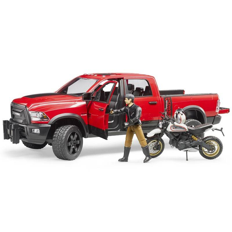 Bruder Bruder 02502 RAM 2500 with Motorcycle