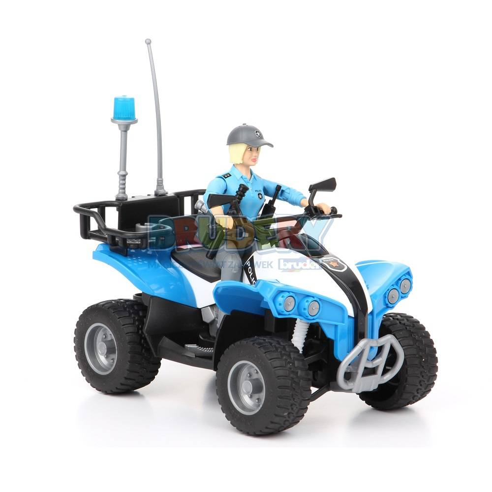 Bruder Bruder 63010 Police-Quad with Policewoman