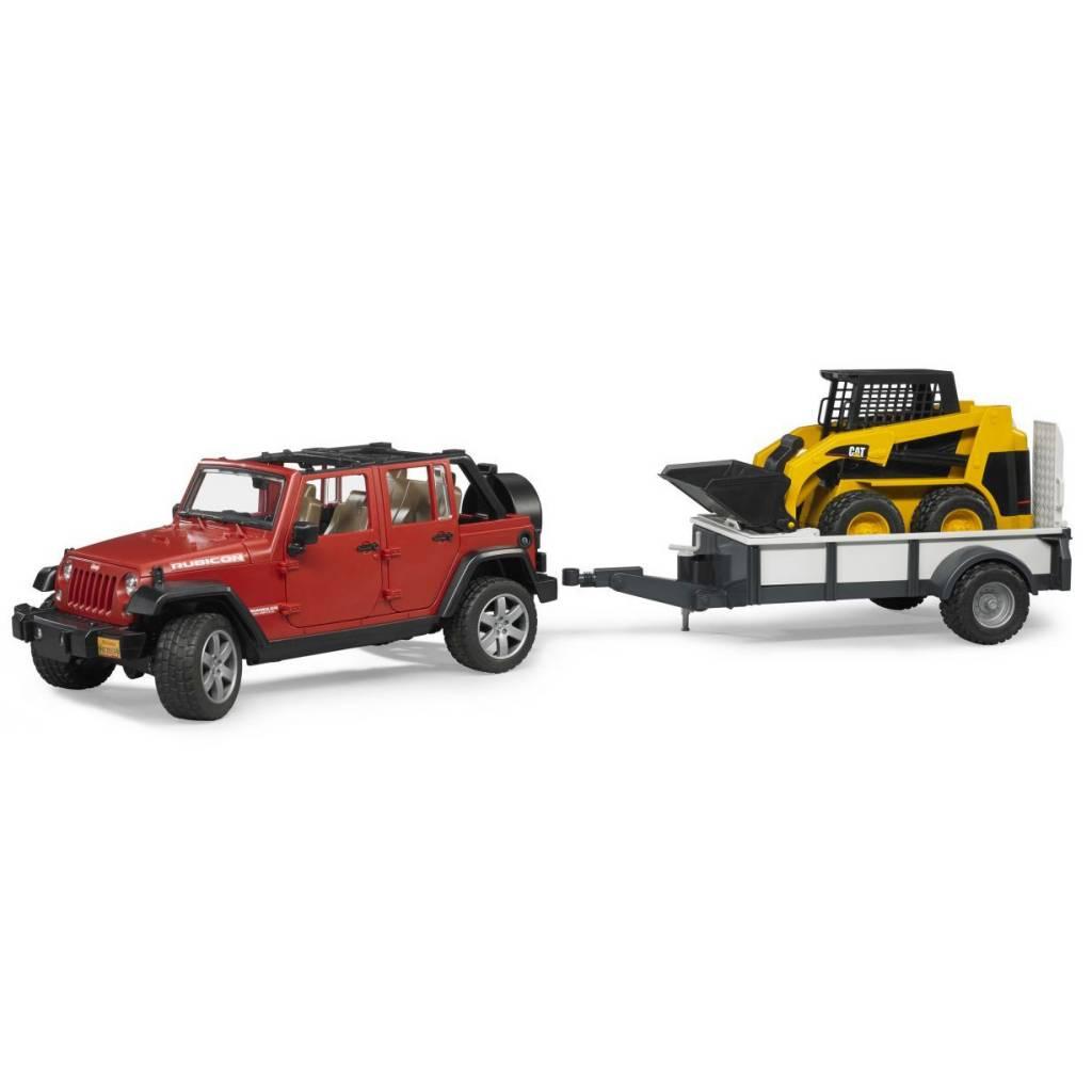 Bruder Bruder 02925 Jeep Wrangler with Trailer and Cat Loader