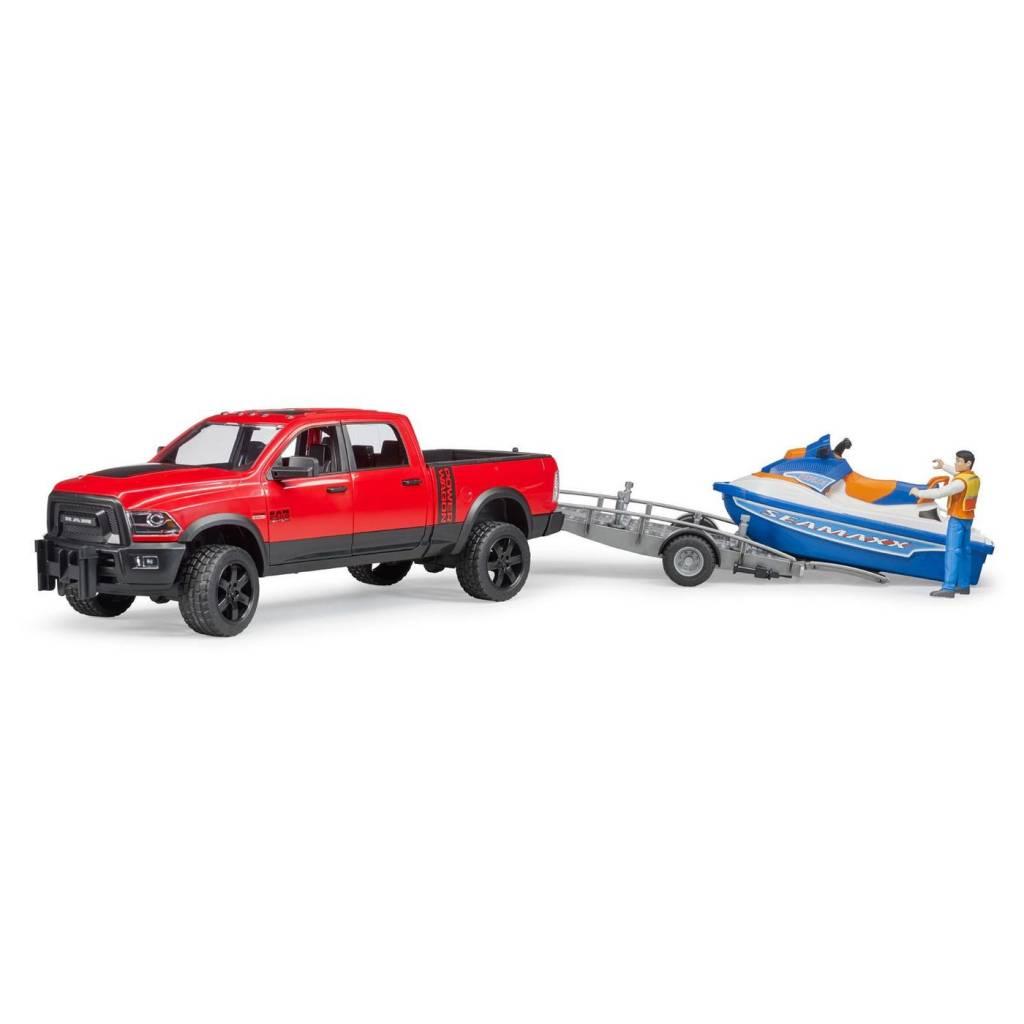 Bruder Bruder 02503 RAM 2500 Power Wagon with Trailer, Jet Ski and Figure
