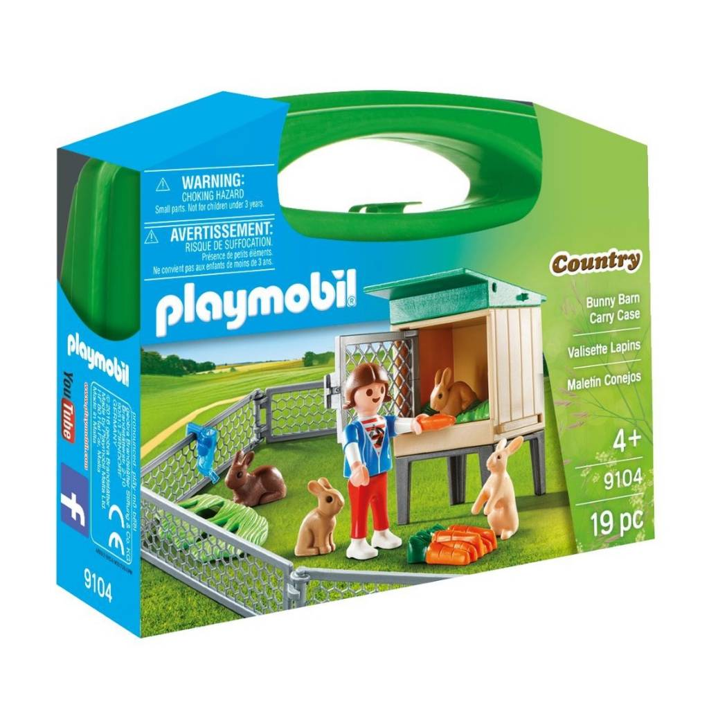 Playmobil Playmobil 9104 Bunny Barn Carry Case