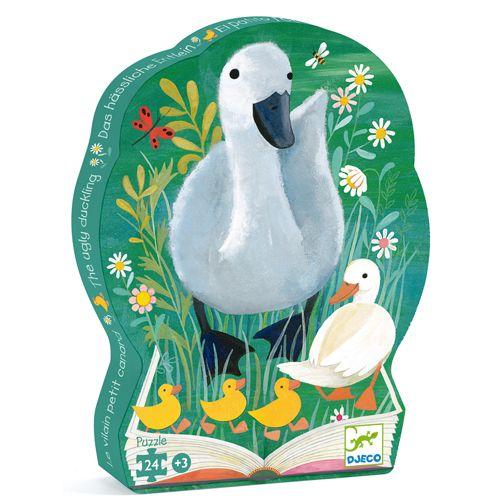Djeco Djeco 07202 Puzzle silhouette - Le vilain petit canard 24 mcx