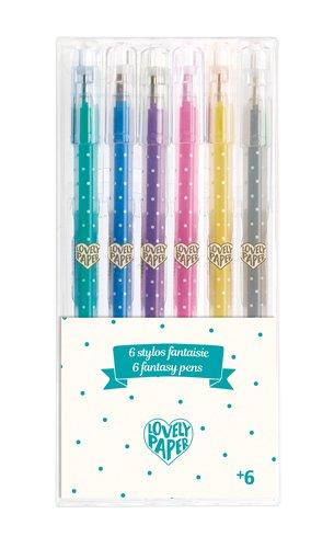 Djeco Djeco 03755 6 crayons gel paillettes
