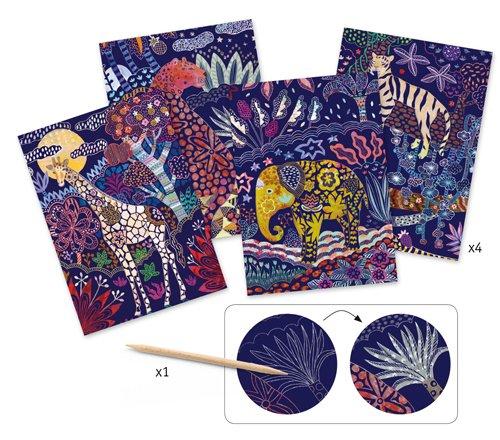 Djeco DJECO 09728 Cartes à gratter - Nature luxuriante
