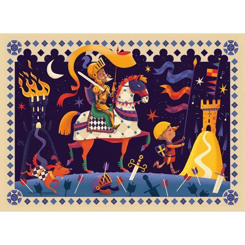 Djeco DJECO DJ07235 Don Quichotte - Puzzle silhouette 36 pcs