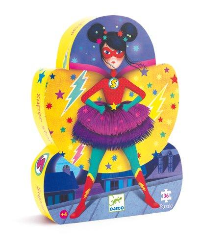 Djeco DJ07226 Super Star - Puzzle silhouette 36 pcs