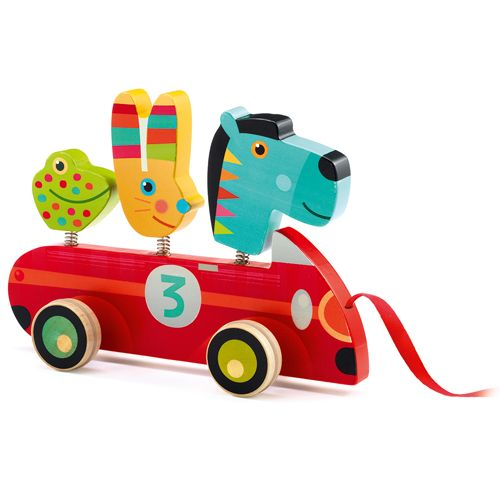 Djeco DJ06238Pull Along Toy / Zebro & co