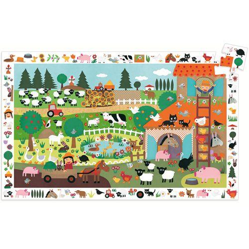Djeco D07591 Observation puzzle / Farm / 35 pcs