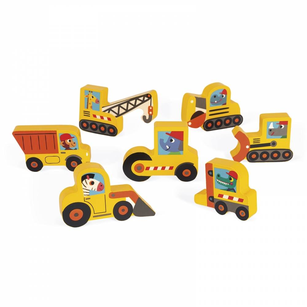 Janod Janod 7077 Construction Site Chunky Puzzle