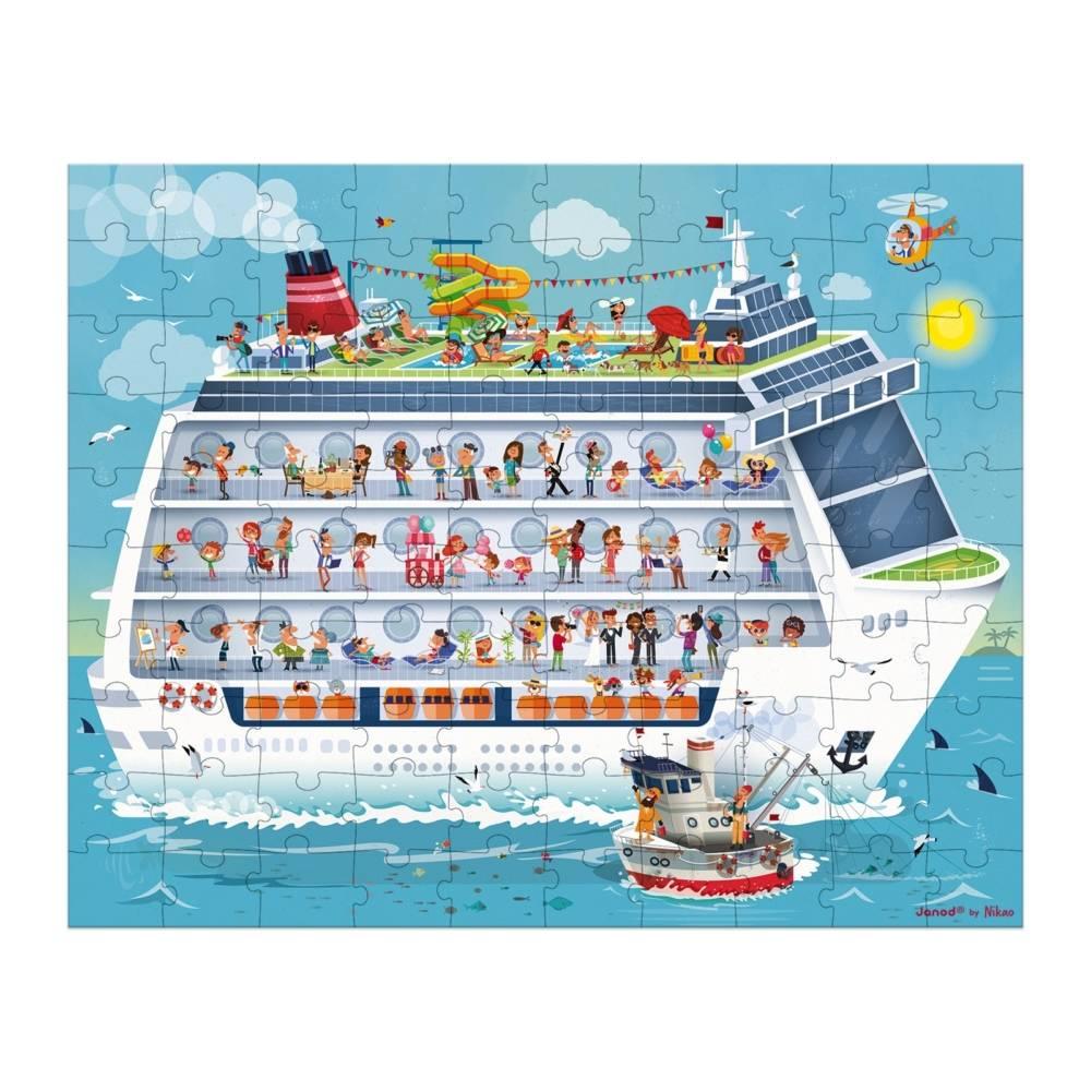 Janod Janod 2726 Cruise Ship Puzzle Duo 100pcs and 200pcs