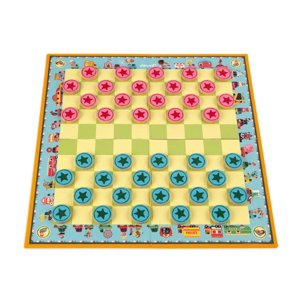 Janod Janod 2746 Carrousel Draughts Game