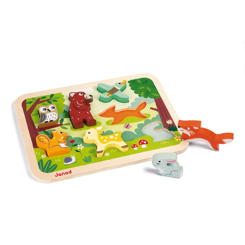 Janod CHUNKY PUZZLE FOREST 7 PIECES (WOOD)