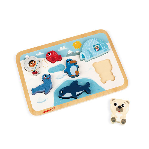 Janod CHUNKY PUZZLE ARCTIC 7 PIECES (WOOD) J07094