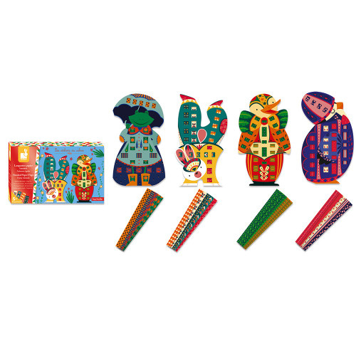 Janod Janod BRAIDED PAPER STRIPS FUNNY ANIMALS