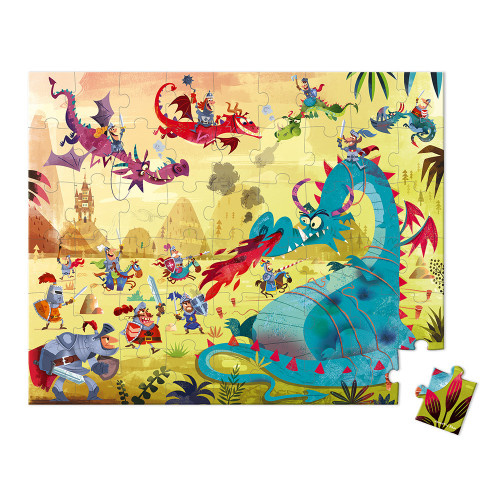 Janod Janod  - HAT BOXED PUZZLE DRAGONS 54 PIECES