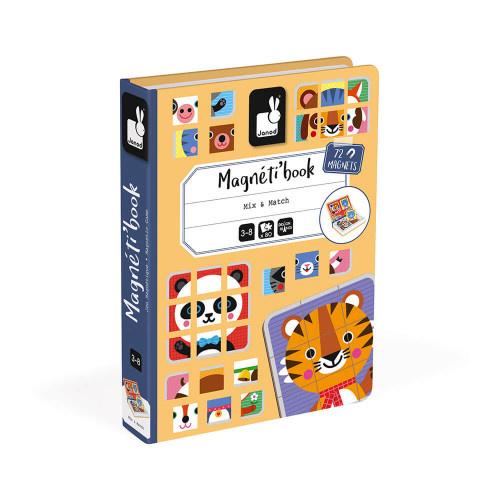 Janod JANOD MAGNETI'BOOK MIX & MATCH ANIMALS, 72 MAGNETS